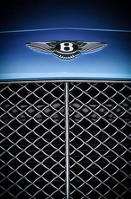 Photograph - 2007 Bentley Continental Gtc Convertible Hood Ornament by Jill Reger