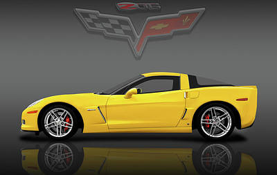 Photograph - 2007 C6 Chevrolet Corvette Zo6 Coupe  -  2007c6zo6vettelogosfa184185 by Frank J Benz