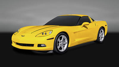 Photograph - 2007 Chevrolet C6 Corvette Coupe  -  07c6vettegry by Frank J Benz