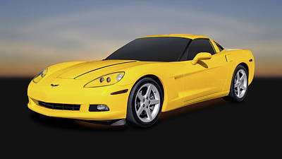 Photograph - 2007 Chevrolet C6 Corvette Coupe  -  2007c69687 by Frank J Benz