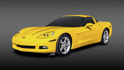Photograph - 2007 Chevrolet C6 Corvette Coupe   -  2007c6vettefa9687 by Frank J Benz