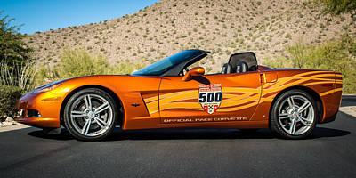 Indy Car Photograph - 2007 Chevrolet Corvette Indy Pace Car -0003c2 by Jill Reger