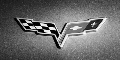 2007 Photograph - 2007 Chevrolet Corvette Indy Pace Car -0301bw by Jill Reger
