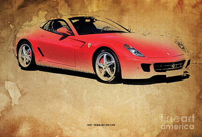 Garage Mixed Media - 2007  Ferrari 599 Gtb by Pablo Franchi
