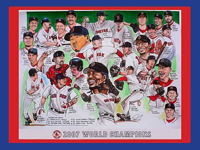 Red Sox Painting - 2007 World Series Champions by Dave Olsen