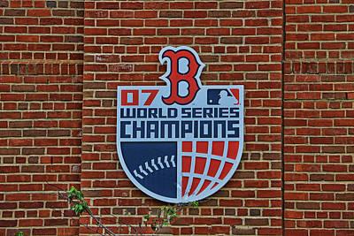 Photograph - 2007 World Series Plaque - Fenway Park by Allen Beatty