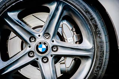 2008 Photograph - 2008 Bmw Wheel Emblem -1144c by Jill Reger