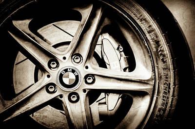 Photograph - 2008 Bmw Wheel Emblem -1144s by Jill Reger