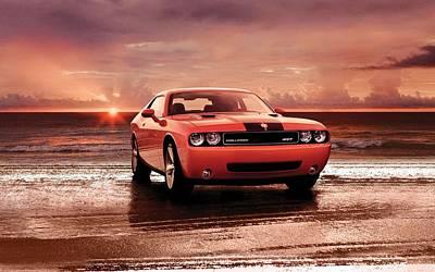 Challenger Digital Art - 2008 Dodge Challenger Srt8 3 by F S