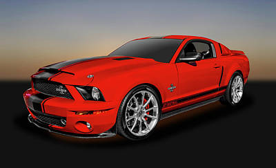Photograph - 2008 Ford Mustang Shelby Gt 500 Super Snake  -  08fdshss3591 by Frank J Benz