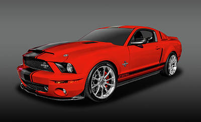 Photograph - 2008 Ford Mustang Shelby Gt 500 Super Snake  -  2008shssfa3591 by Frank J Benz