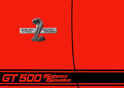 Photograph - 2008 Ford Mustang Shelby Gt 500 Super Snake Side Detail by Frank J Benz