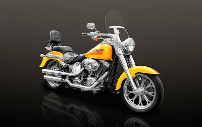 Photograph - 2008 Harley Davidson Fat Boy Motorcycle  -  2008hdfb55 by Frank J Benz