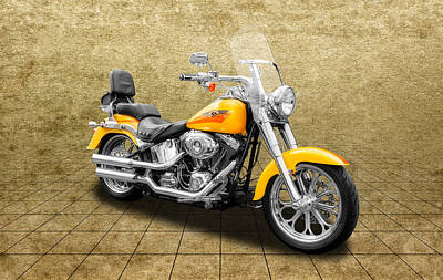 Photograph - 2008 Harley Davidson Fat Boy Motorcycle  -  2008hdfb57 by Frank J Benz