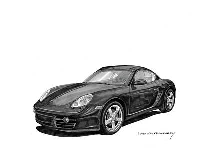 Painting - 2008 Porsche Cayman by Jack Pumphrey