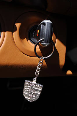 2008 Porsche Turbo Cabriolet Key Chain Print by Jill Reger