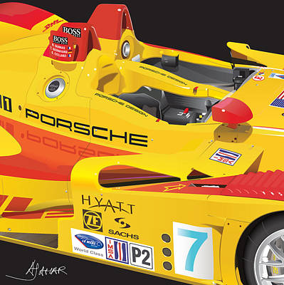 2008 Drawing - 2008 Rs Spyder Illustration by Alain Jamar