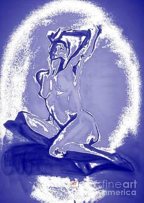 Drawing - 2009 Figure Study 3 by Carol Rashawnna Williams