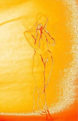 Drawing - 2009 Figure Study 6 by Carol Rashawnna Williams