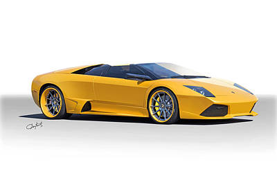 Sports Royalty-Free and Rights-Managed Images - 2009 Lamborghini Murcielago Mild Side by Dave Koontz