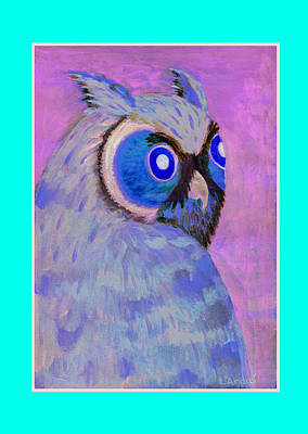 Painting - 2009 Owl Negative by Lilibeth Andre