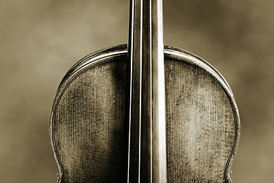 Photograph - 201 .1841 Violin By Jean Baptiste Vuillaume Bw by M K Miller