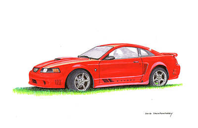 Reverse Painting - 201 Saleen Mustang  by Jack Pumphrey
