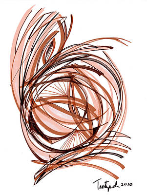 2010 Abstract Drawing Six Art Print by Lynne Taetzsch