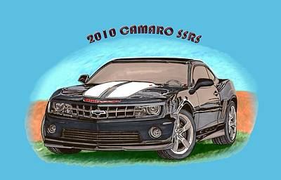 Painting - 2010 Camaro Ss  Rs by Jack Pumphrey