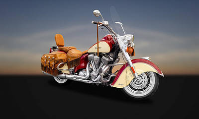 Photograph - 2010 Indian Chief Vintage Motorcycle   -   2010indian11 by Frank J Benz