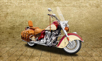 Photograph - 2010 Indian Chief Vintage Motorcycle  -  2010indiangrd by Frank J Benz