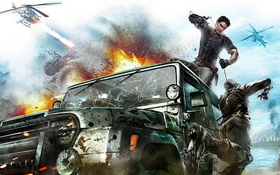 2010 Just Cause 2 Game Art Print by F S