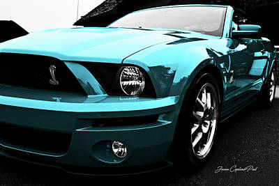 Photograph - 2010 Turquoise Ford Cobra Mustang Gt 500  by Joann Copeland-Paul