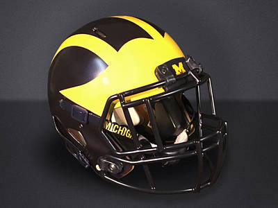Photograph - 2010s Wolverine Helmet by Michigan Helmet