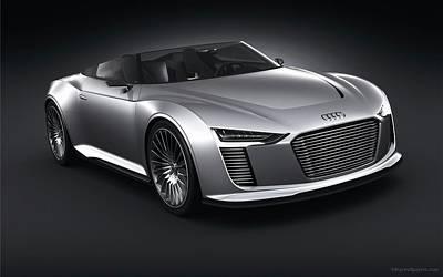 Tron Digital Art - 2011 Audi E Tron Spyder Wide by F S