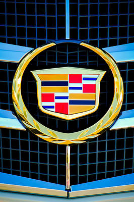 American Cars Photograph - 2011 Cadillac Cts Performance Collection Emblem -0584c46 by Jill Reger