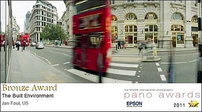 Photograph - 2011 Epson Pano Awards  - Kensington Bus  Bronze Medal by Jan W Faul