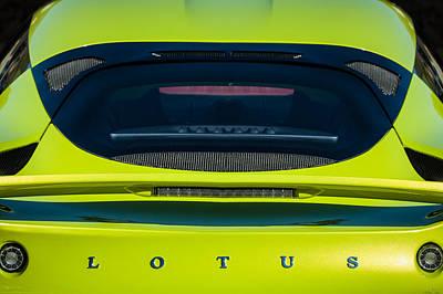 Photograph - 2011 Lotus Evora S Taillight Emblem -0599c by Jill Reger