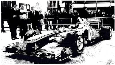 Formula One Drawing - 2011 Mclaren by Lyle Brown
