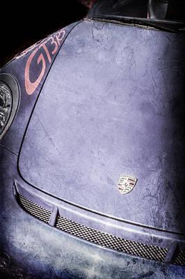Gt3 Rs Photograph - 2011 Porsche Gt 3 Rs Hood Emblem -0710ac by Jill Reger