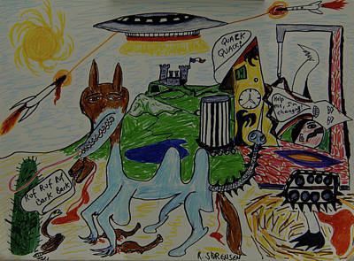 Painting - 2012 Battle For Planet Earth by Robert SORENSEN