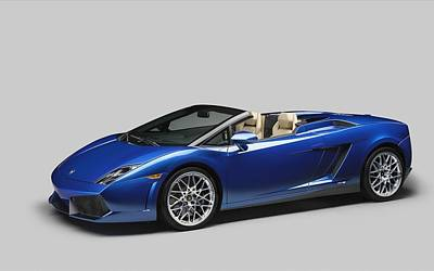550 Digital Art - 2012 Lamborghini Gallardo Lp 550 Spyder  by F S