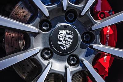 Photograph - 2012 Porsche Carrera 4 Co Wheel Emblem -0043c by Jill Reger