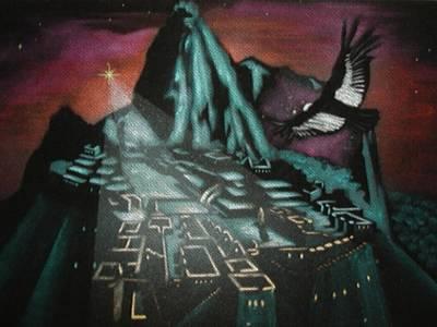 Condor Painting - 2012 Series by Wilbert Hancco Zamata