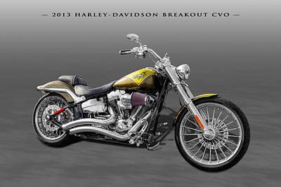 Photograph - 2013 Harley-davidson Breakout Cvo by Frank J Benz