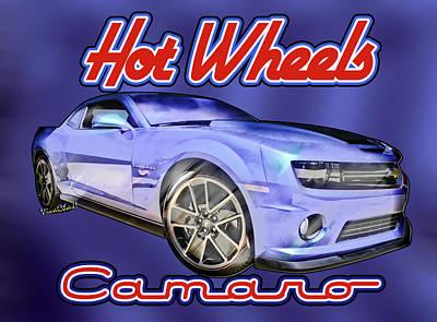 Street Rod Mixed Media - 2013 Hot Wheels Camaro Redux by Chas Sinklier