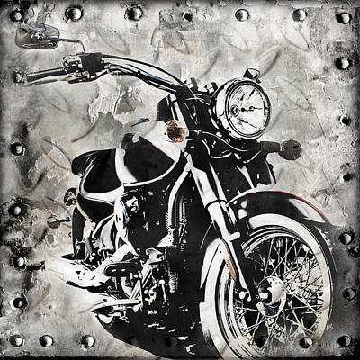 Ink Digital Art - 2013 Kawasaki Vulcan by Melissa Smith