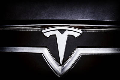Photograph - 2013 Tesla Model S Emblem -0122ac1 by Jill Reger