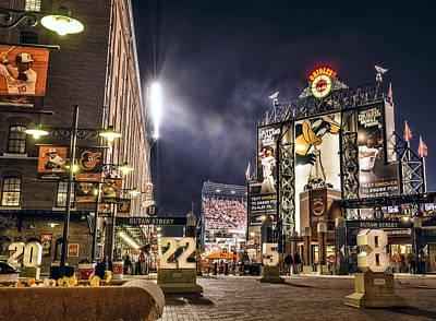 Baltimore Orioles Digital Art - Oriole Park At Camden Yards by Jamie-Leigh Bissett