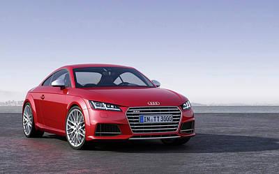 Audi Tt Digital Art - 2014 Audi Tts Coupe Wide by Anne Pool
